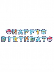 Pokemon™-Girlande Happy Birthday Raumdeko bunt 218x12cm