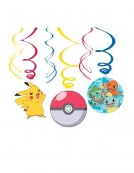 Pokémon™-Spiraldeko Hängedeko Mottoparty 6 Stück bunt