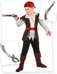 Piraten Kostüm-Set für Jungen Seeräuber 7-teilig bunt