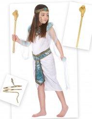 Kleopatra ägyptische Göttin Mädchenkostüm-Set 6-teilig weiss-bunt