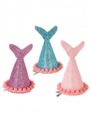 3 Meerjungfrauen Partyhüte mit Glitzer