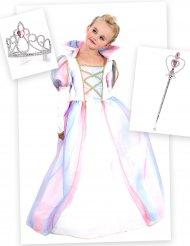 Traumhaftes Prinzessinnen-Kostüm-Set Märchen 3-teilig rosa-bunt