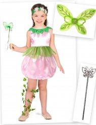Kleine Waldfee Kostüm-Set für Mädchen 4-teilig rosa-grün