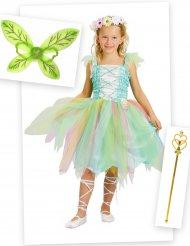Märchenhaftes Fee Kostüm-Set für Mädchen 4-teilig bunt