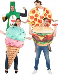 Fast Food Gruppenkostüm für Erwachsene