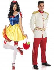 Prinz und Prinzessin Paarkostüm Märchen bunt