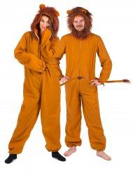 Löwen-Partnerkostüm Tier-Verkleidung für Erwachsene braun