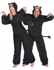 Panther-Paarkostüm Raubkatzen für Fasching schwarz-grau