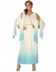 Antike Göttin Damenkostüm für Fasching weiss-blau