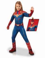 Captain Marvel™ Mädchenkostüm Lizenz blau-rot-gold