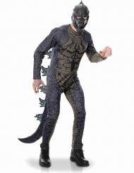 Godzilla™-Kostüm für Erwachsene Lizenz-Verkleidung grau-braun