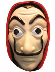 Bankräuber-Maske aus Pappkarton für Erwachsene