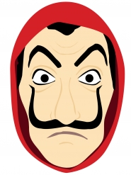 Bankräuber Maske aus Pappkarton Comic-Style für Erwachsene