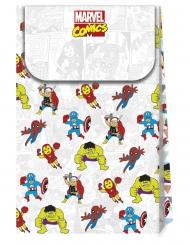 Avengers™-Deluxe Geschenktüte Partyzubehör 6 Stück bunt 21x13cm