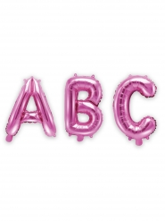 Pinke Buchstaben-Ballons aus Aluminium 35 cm