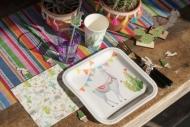 Trendige Lama Pappteller viereckig Tischzubehör 10 Stück bunt 23cm