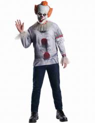 Es™-Kostüm-Set für Herren Horror-Figur weiss-rot-grau