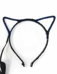 Katzenohren-Haarreif mit Neonbeleuchtung Accessoire bunt