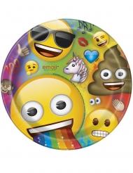Emoji™-Pappteller 8 Stück bunt 23cm