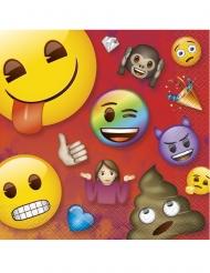 Emoji Rainbow™-Servietten Tischzubehör 16 Stück bunt 33x33cm