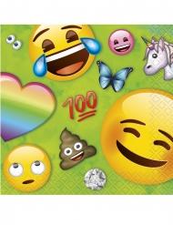 Emoji™-Servietten für Kindergeburtstage 16 Stück grün-bunt 25x25cm