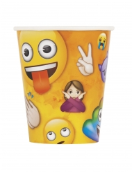 Emoji™-Trinkbecher Partydeko 8 Stück bunt 266 ml
