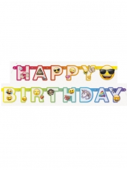 "Emoji™-Rainbow-Girlande ""Happy Birthday"" Raumdekoration bunt 1,8m"
