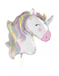Einhorn Folienballon für Mädchen Raumdeko bunt 106cm