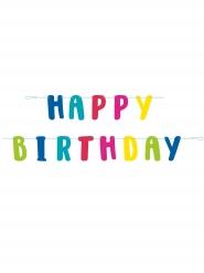 Happy Birthday-Girlande Schriftzug Raumgestaltung bunt 1,8m