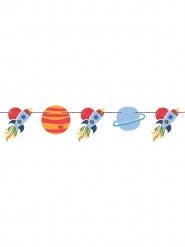 Girlande Universum Planeten und Raketen bunt 1,5m