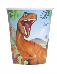 Dinosaurier-Pappbecher für Kindergeburtstage 8 Stück bunt 266ml