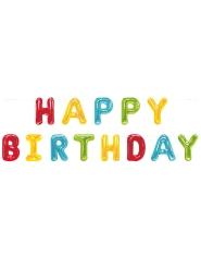 Happy Birthday-Girlande Raumdekoration bunt 2,74 m