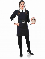 Wednesday™ Kostüm Addams Family™ für Damen Halloween