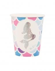 Meerjungfrauen-Trinkbecher Tischzubehör 8 Stück bunt 250 ml