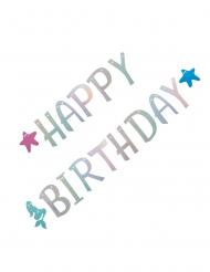 Meerjungfrau-Girlande Happy Birthday bunt 2,6 m