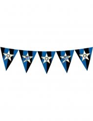Inter Mailand™-Girlande mit Wimpeln Partydekoration schwarz-blau-weiss 365 cm