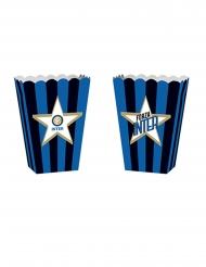 Inter Mailand™-Popcorn-Behälter Fussball-Zubehör 4 Stück blau-schwarz 13,5x8,5x19cm