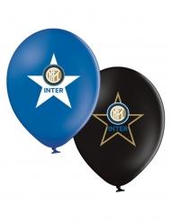 Inter Mailand™-Ballons aus Latex Partyzubehör 12 Stück bunt 30 cm