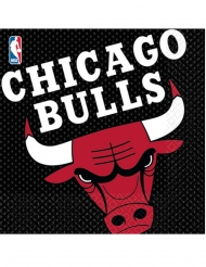 Chicago Bulls™-Servietten Basketball 16 Stück lila-gelb 33x33cm