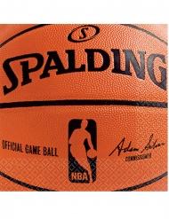 NBA Spalding™-Servietten für Sportliebhaber 36 Stück orange-schwarz 25x25cm