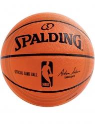 NBA Spalding™-Pappteller Tischzubehör 18 Stück orange-schwarz 23 cm