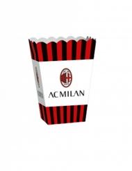 Popcornbehälter AC Mailand™ Partyzubehör 4 Stück scharz-rot-weiss