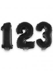 Zahlen-Ballon Raumdekoration Ziffer schwarz 1m
