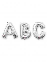Aluminium-Ballon Buchstaben Partydekoration silber 33 cm
