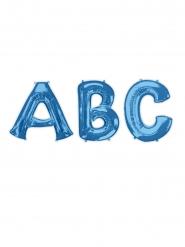 Buchstaben-Ballon Aluminium-Folienballon blau 81cm