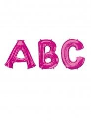 Folienballon in Buchstabenform Partyzubehör pink 81cm