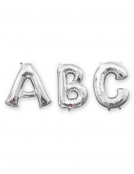 Aluminium-Ballon in Buchstabenform Raumdekoration silber 86cm
