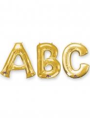 Buchstaben Folienballons von A-Z Raumdekoration gold 86cm