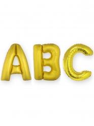 Aluminium-Ballon mit Zahlen Raumdekoration gold 1m