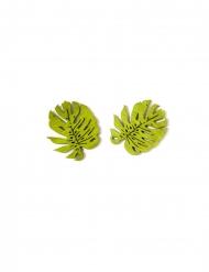 Palmenblätter-Konfetti Partyzubehör aus Holz Gartenparty Deko 10 Stück grün 4 cm